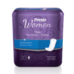 "Presto Pads for Women 10"" (180 Case)"